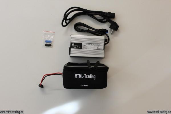 Golf Trolley Batterie 24V 10 Ah LiFePo4 + Ladegerät