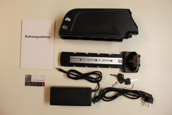 Rahmenakku 36V 17Ah Panasonic NCR 3400 USB Anschluss