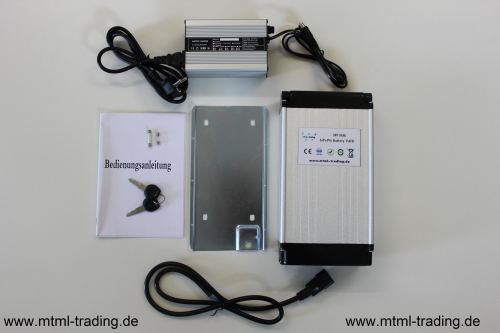 Golf Trolley Batterie 12V 20Ah LiFePo4+Ladegerät
